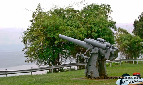 Japanese Memorial Garden Anti Aircraft  Corregidor Island: Japanese Memorial Garden